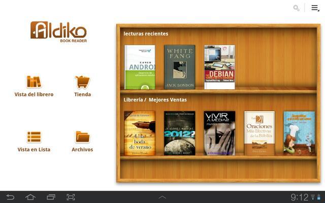 Aldiko, el lector de ebooks