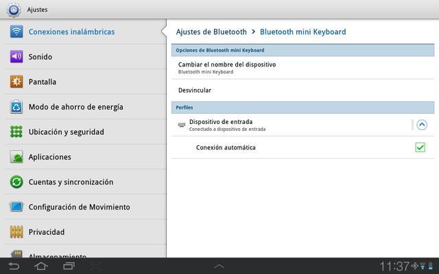 Teclado Tablet Android