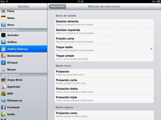 bluetooth iPad