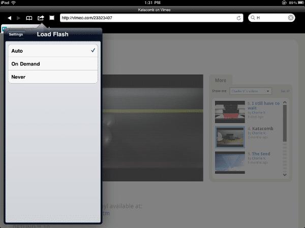 Ver flash iPad