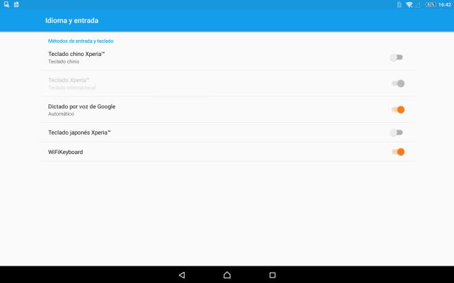 Activar teclados en Android