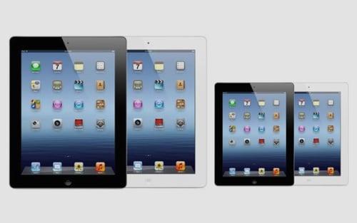 iPad Mini, blanco y negro