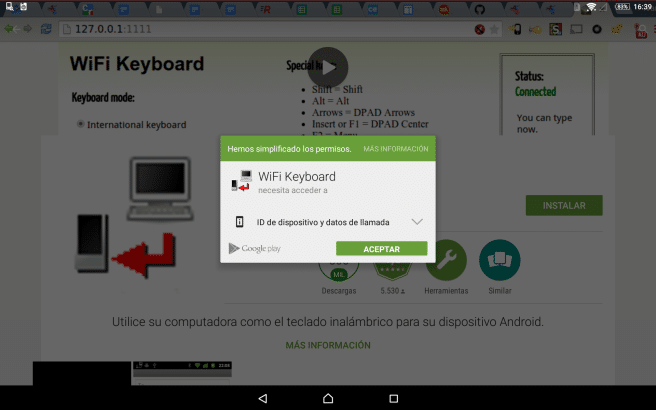 WiFi keyboard para Android