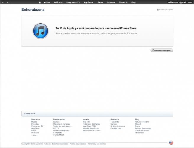 iTunes Store EEUU