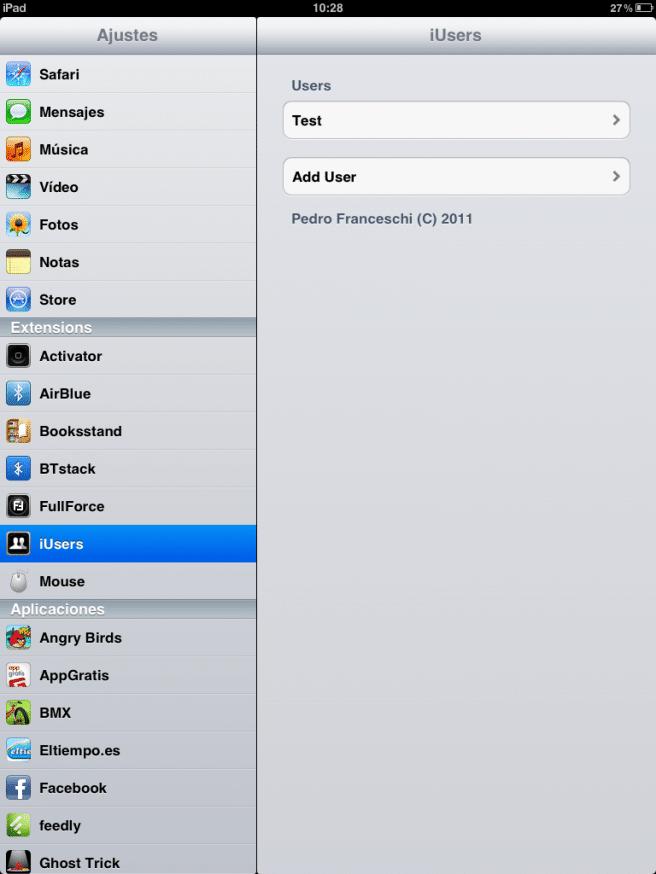 usuario iPad
