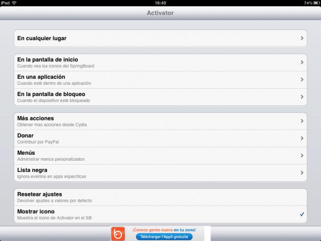 activator iPad