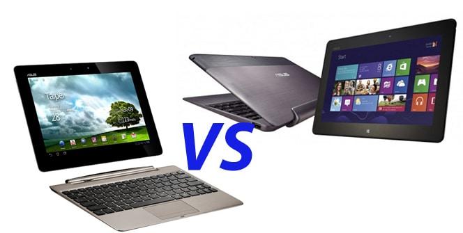Tabletas híbridas Windows 8 VS Tabletas híbridas Android