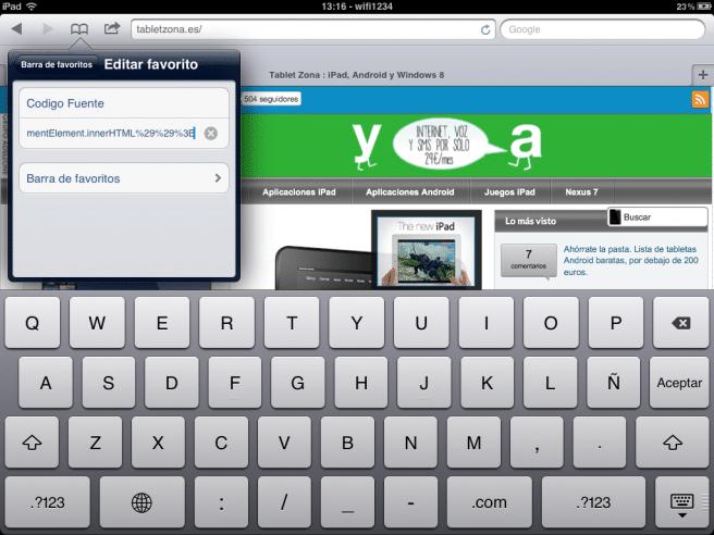html iPad