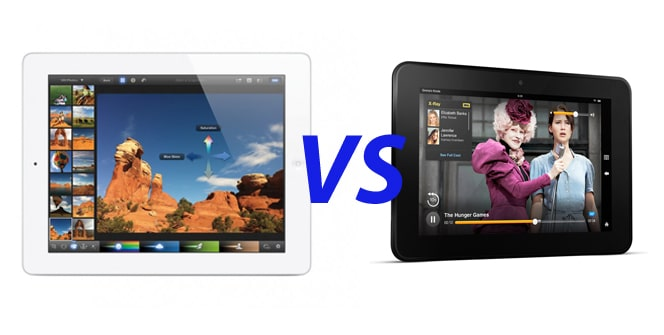 Kindle Fire HD vs Nuevo iPad