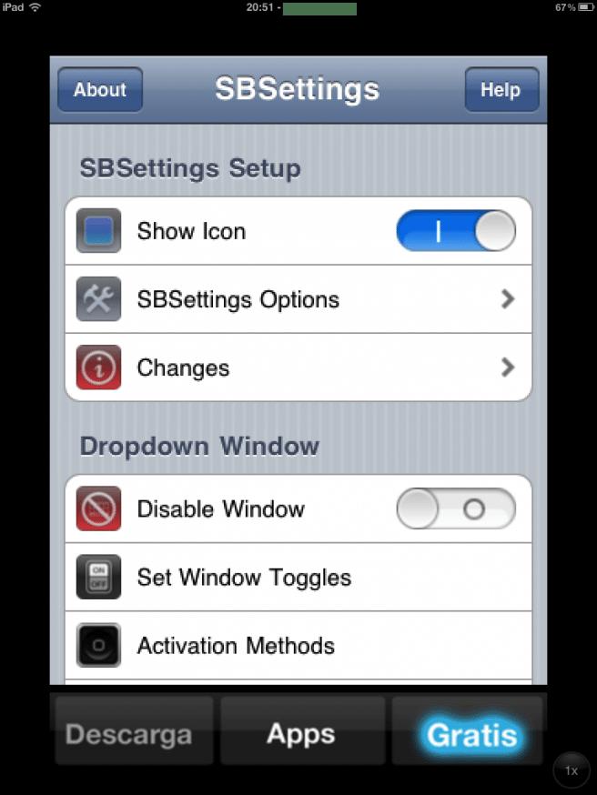 sbsetings iPad
