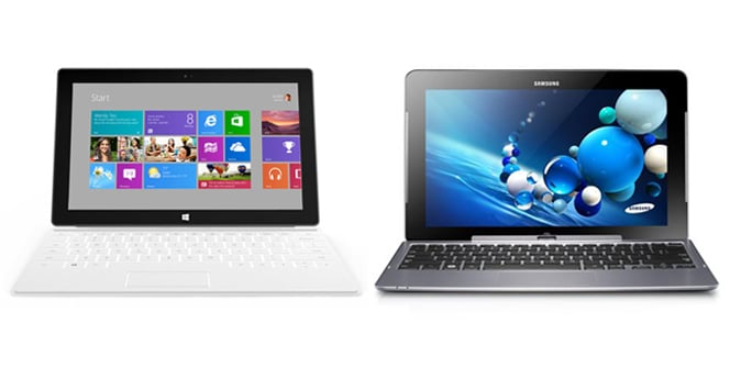 Surface Windows 8 Pro VS Smasung ATIV Smart PC Pro