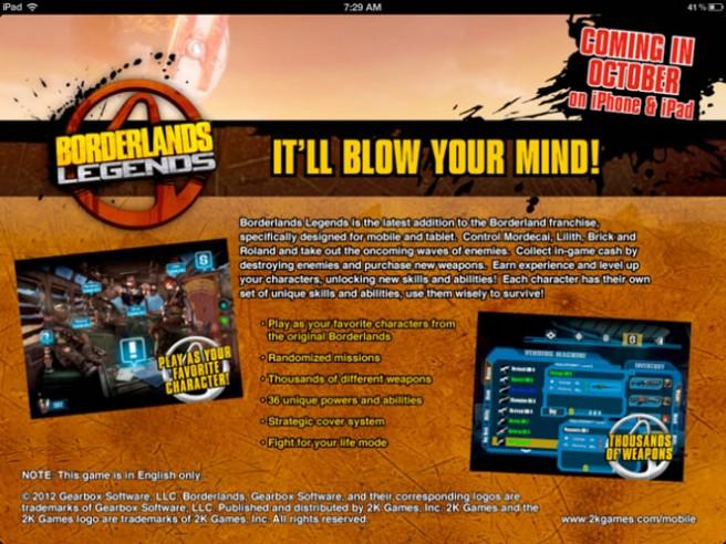 Borderlands legends Ad