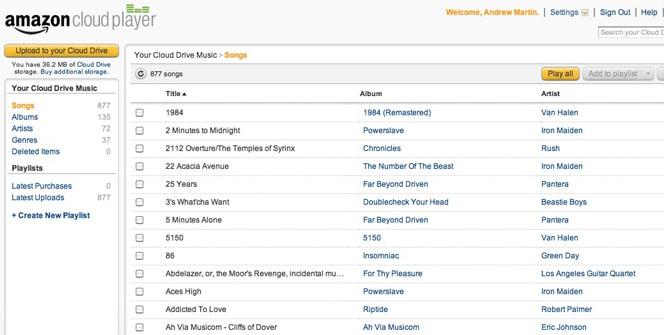 Amazon Cloud Player y MP3