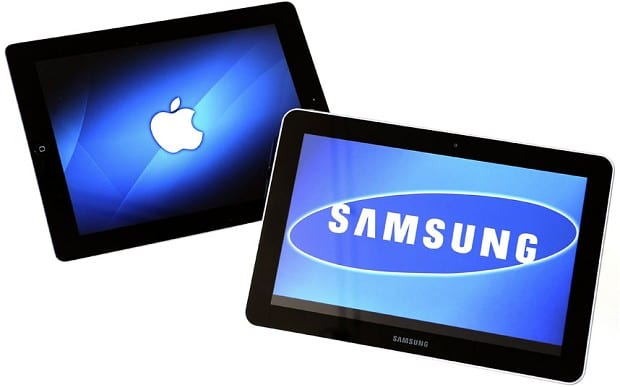 Samsung Apple tablets
