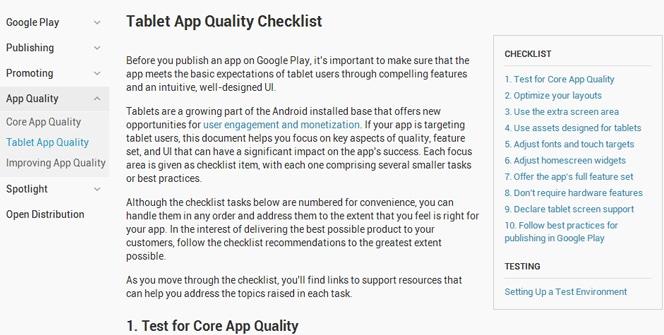 Aplicaciones Android optimizadas para tablets