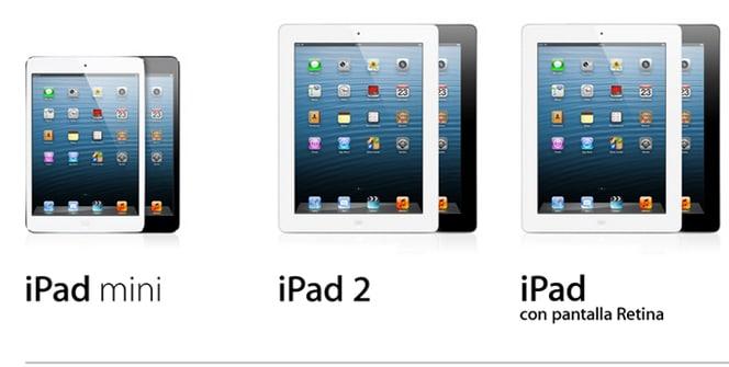 iPad mini, iPad 2, iPad 4