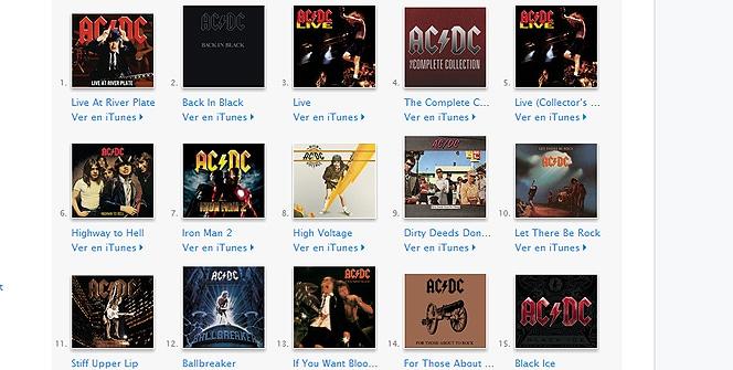 AC/DC en iTunes