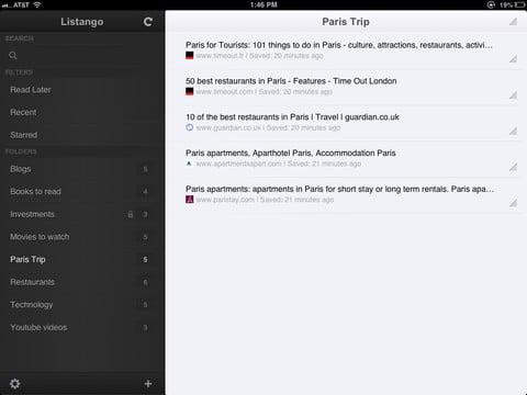 Listango para iPad