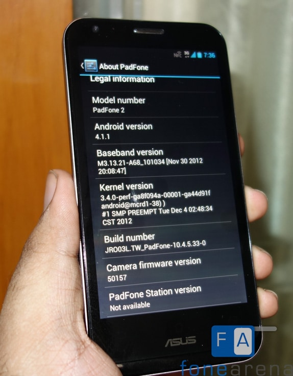 Asus PadFone 2 Jelly Bean