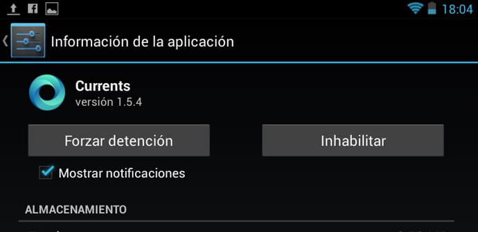 inhabilitar apps android