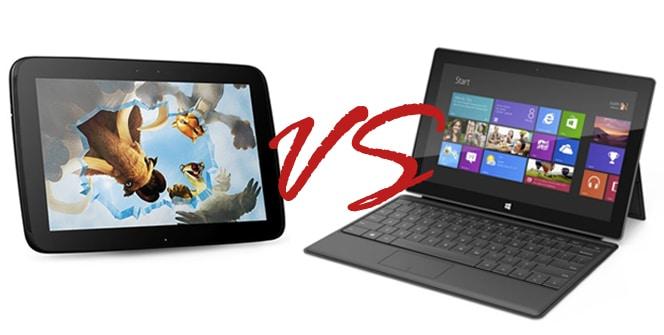 Surface Pro vs Nexus 10