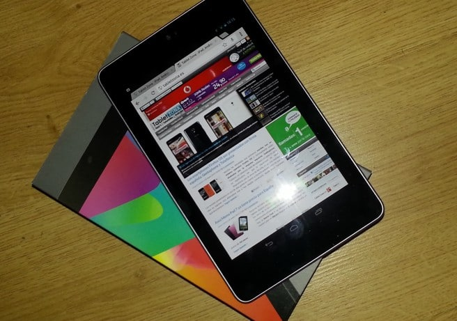 Nexus 7 con caja