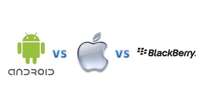 Android VS Apple VS BlackBerry