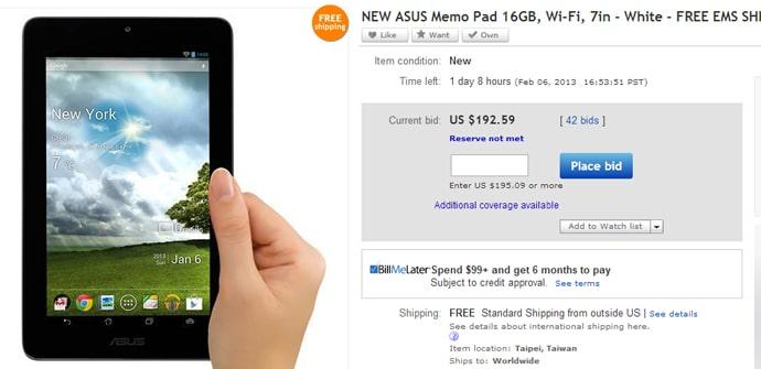 Asus Memo Pad 7 eBay