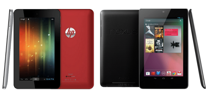 Nexus 7 vs HP Slate 7
