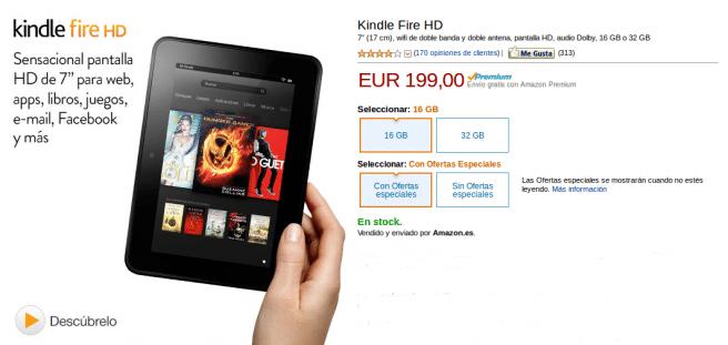 Precio Kindle Fire HD