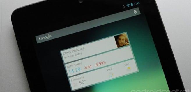 widget Nexus 7