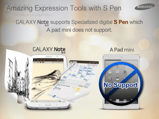 Galaxy Note 8.0 vs iPad mini S Pen