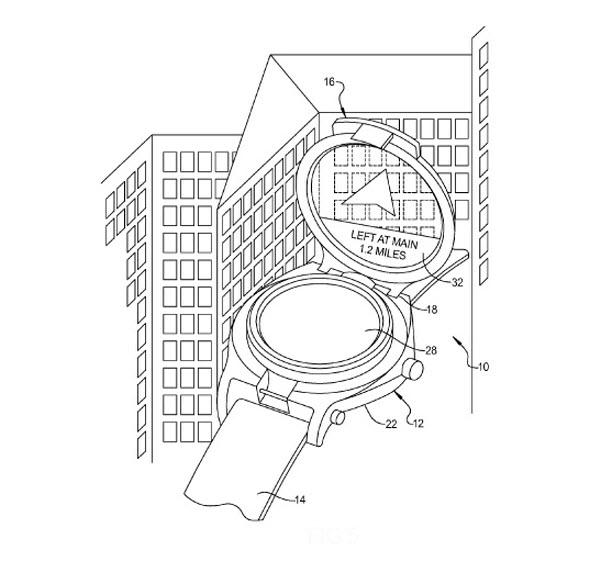 Google smartwatch-patent