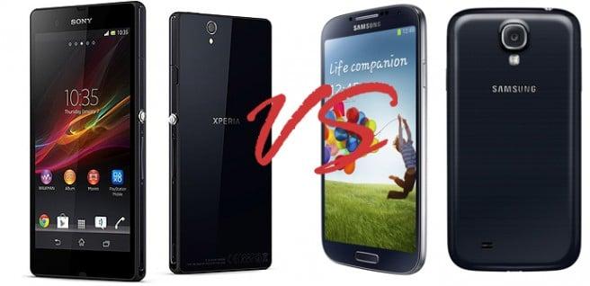 Samsung Galaxy SIV VS Sony Xperia Z