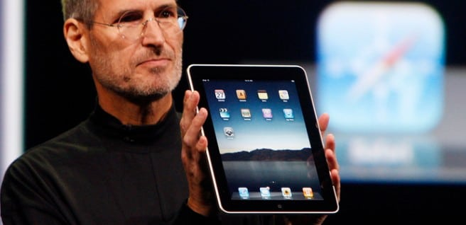 El primer iPad y Steve Jobs