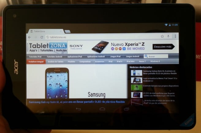 Tablet Zona Iconia b1 analisis