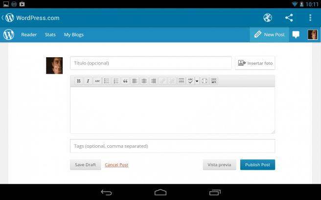 Wordpress crear entrada
