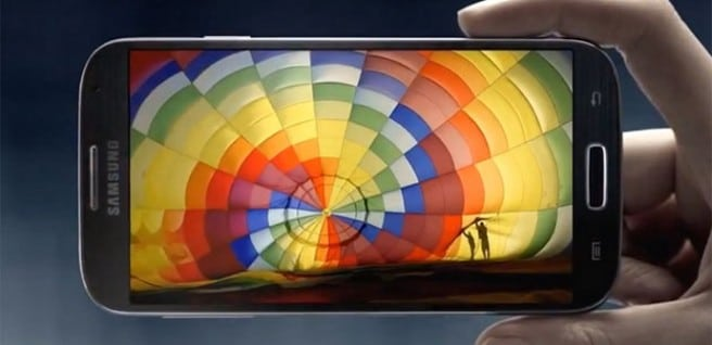 Galaxy S4 horizontal