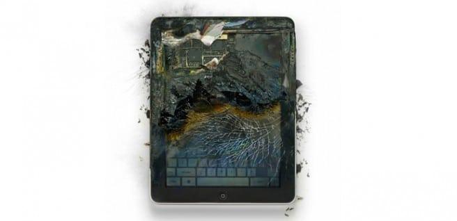 iPad incendio