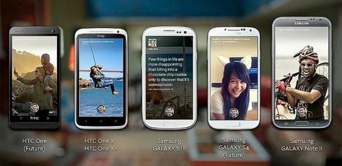Facebook home Samsung HTC