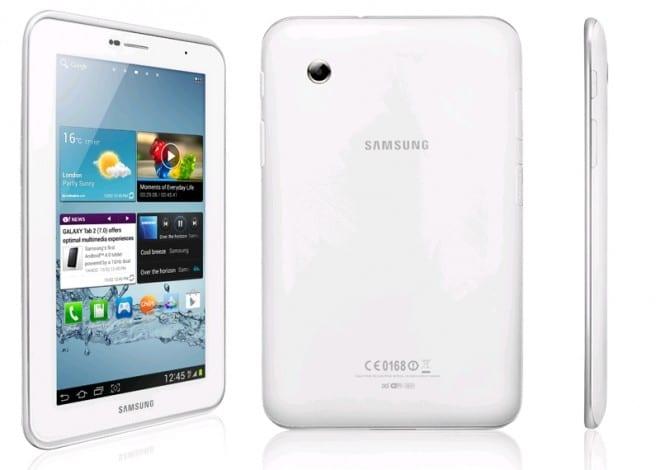 Galaxy Tab 2 7.0 blanca
