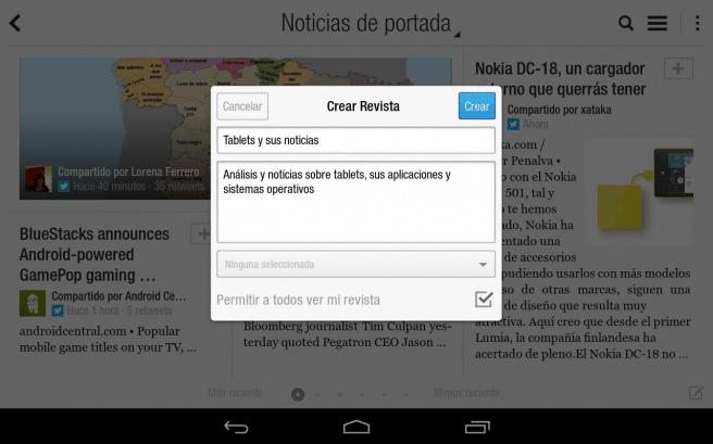 Flipboard Android revista