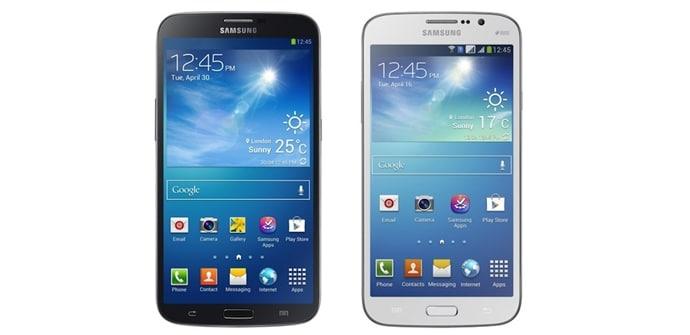 Galaxy Mega 63 y 58
