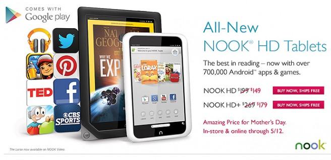 Nook HD Google Play