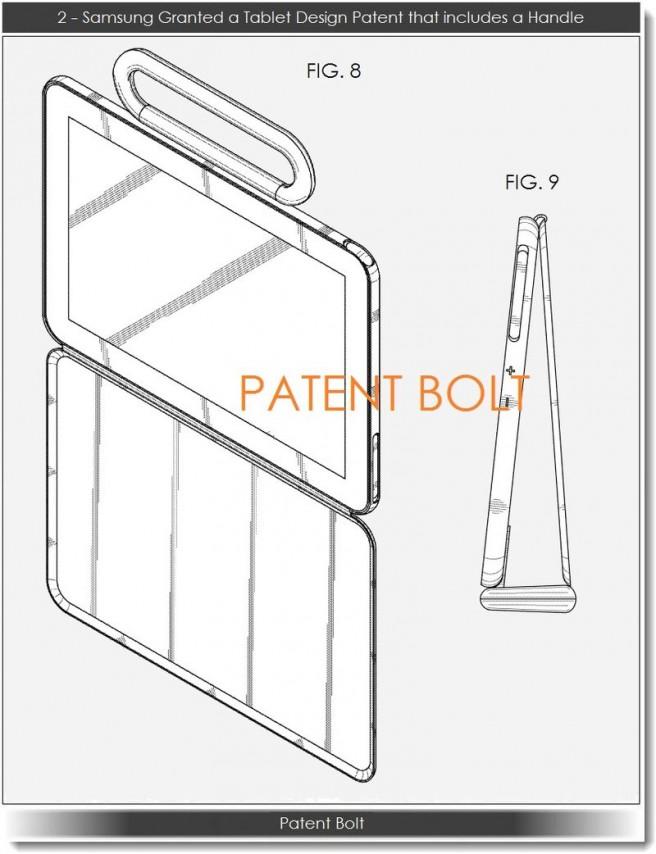 Patente Samsung tablet con asa