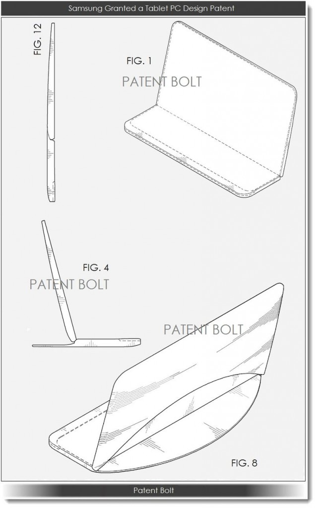 Patente tablet pantalla flexible Samsung