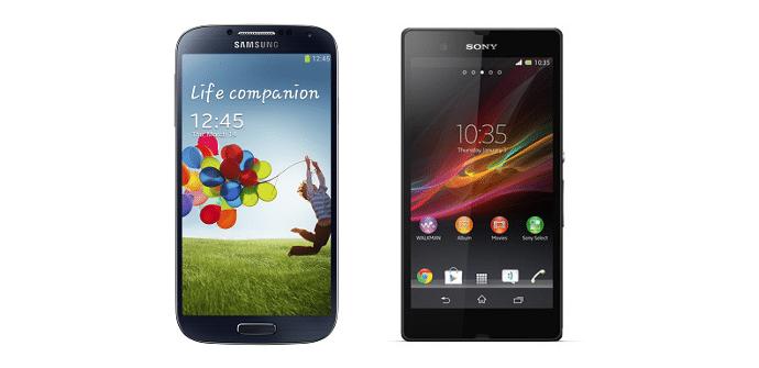 Xperia Z vs Galaxy S4 comparativa