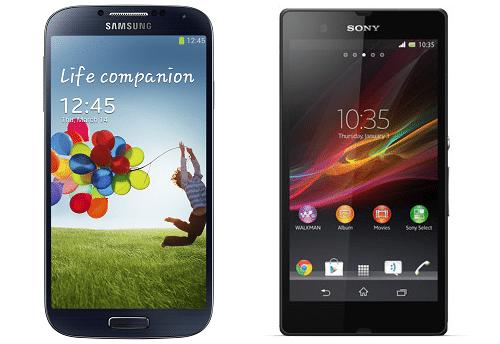 Xperia Z vs Galaxy S4 video