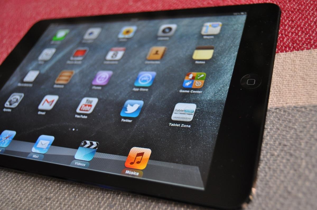 La pantalla del iPad mini