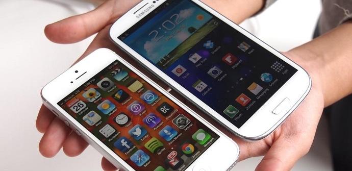 test iPhone 5 Galaxy S4